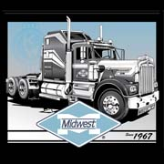 Midwest Specialized Trucking 1967 Tshirt Illustration